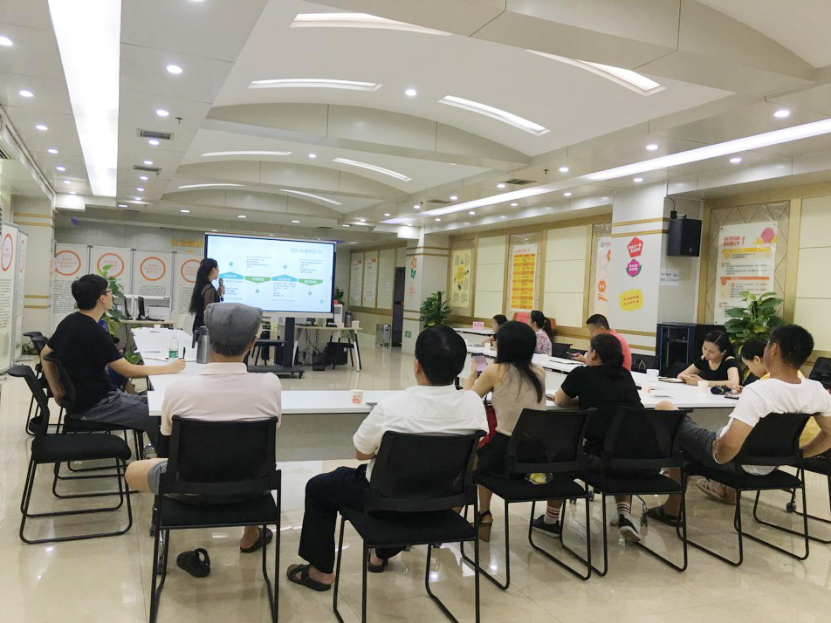 株洲市社会组织发展中心第八期入驻组织主题培训暨8月例会